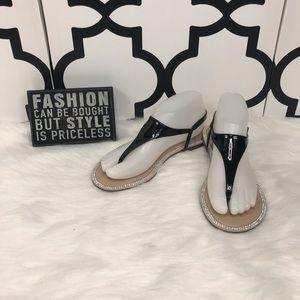 3 For $15 Elle Collette Rhinestone Sandals
